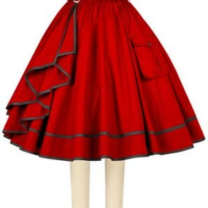jupe rockabilly vintage rouge