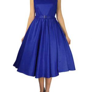 robe rockabilly vintage bleu royal