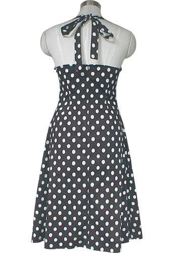 robe Pin-Up rockabilly à pois noire