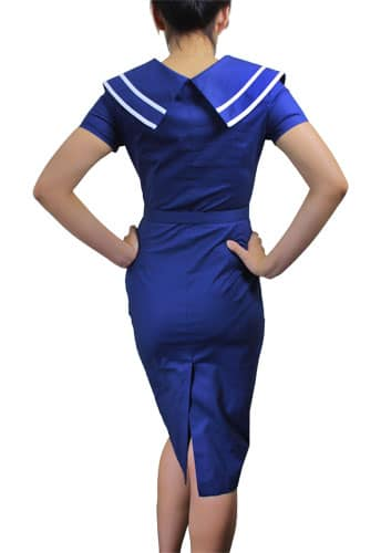 robe Pin-Up vintage Style Marin Bleue