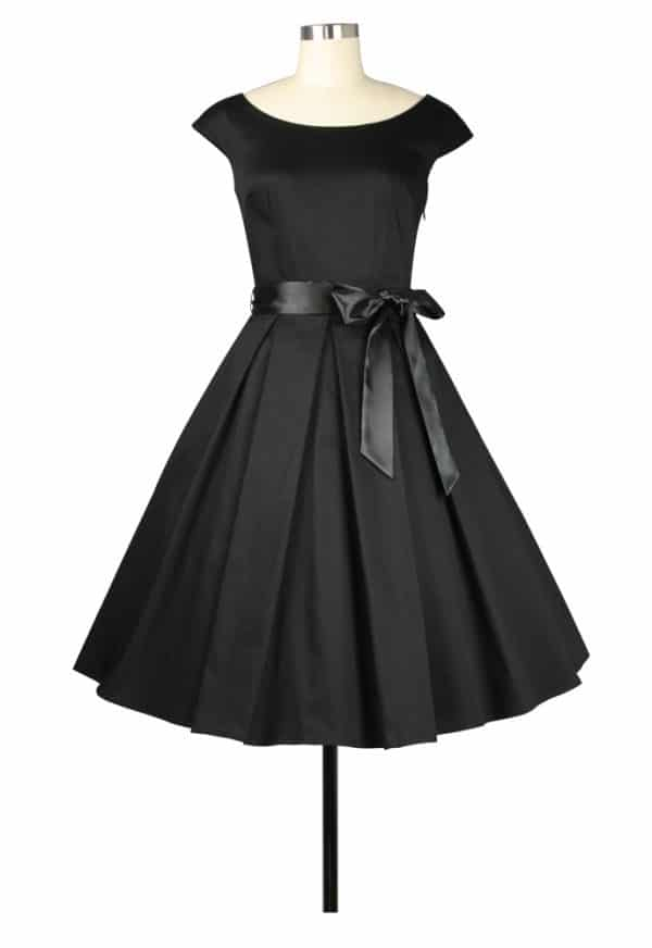 robe Rockabilly col rond noire