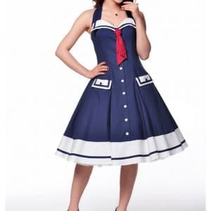 robe Rockabilly Marin Sailor Bleue