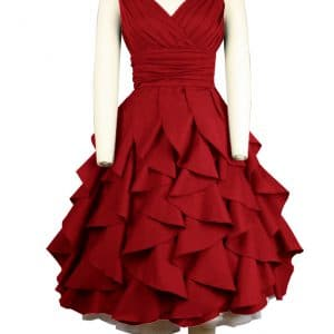 robe Rockabilly volantée froufrou rouge