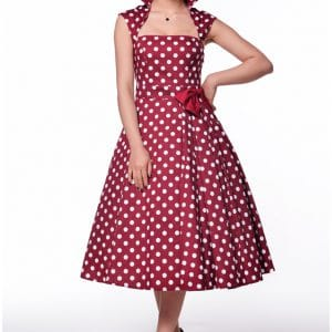 robe Rockabilly noeud à pois rouge
