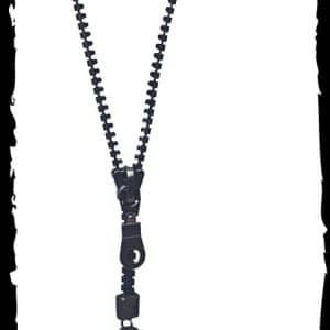 collier Gothique Queen Of Darkness Zip Noir