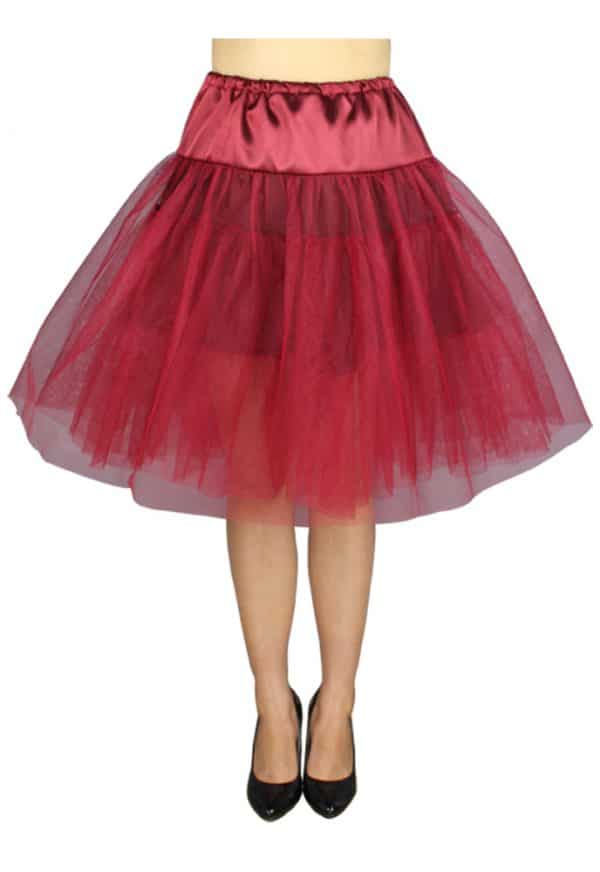 jupon gothique organza rouge