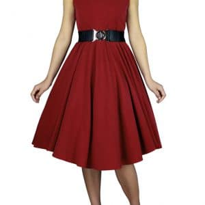robe Rétro Vintage Rouge Taille 42